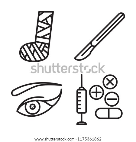 Set 4 Vector Icons Such Plaste Stock Vector Royalty Free