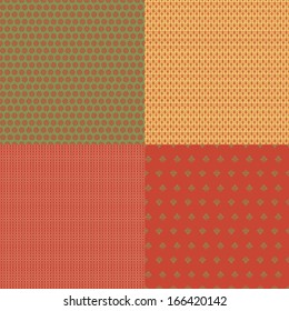 Set of 4 of vector seamless patterns