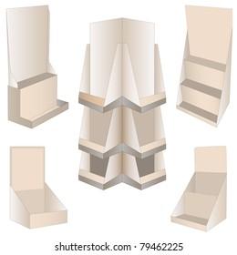 set of 5 new display. vector illustration
