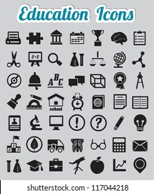Set of 50 education icons - vector icons