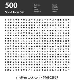Set of 500 creative icons - Various categories mixed