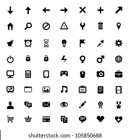 Set of 56 vector icons for software, application or websites - social media and technology