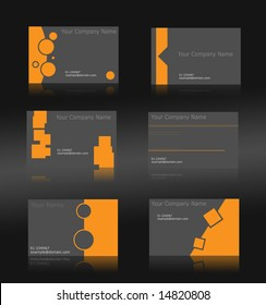 Set of 6 business cards (fully editable)