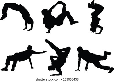 The set of 6 Dancer silhouette figures