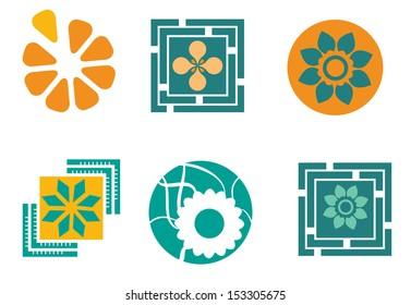 Set of 6 floral designs