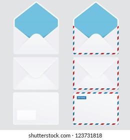 Set of 6 glossy envelopes