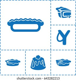 Set of 6 homemade icons such as pie