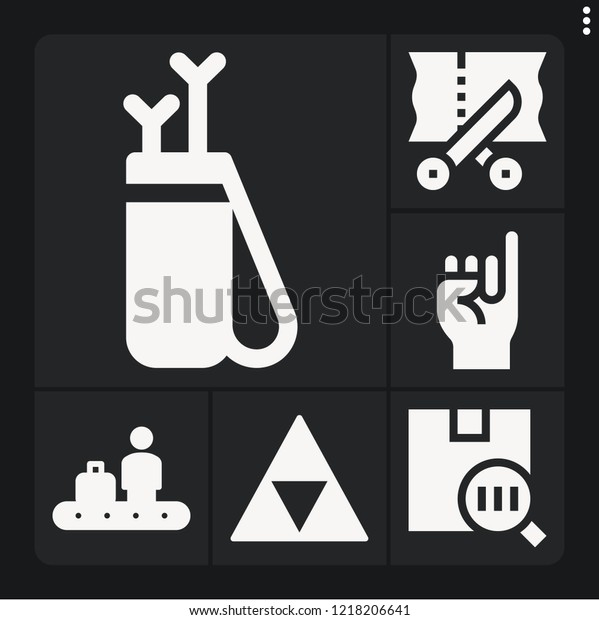 Set 6 Line Filled Icons Such Stock Vector (Royalty Free) 1218206641