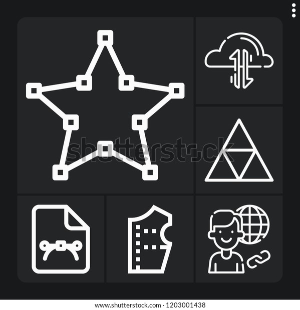 Set 6 Pattern Outline Icons Such Stock Vector (Royalty Free
