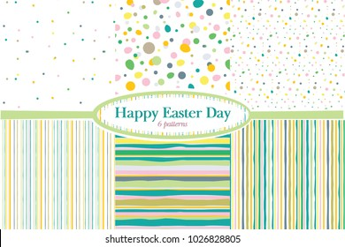 Set of 6 vector holiday patterns. Easter backgrounds.