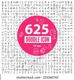 Set of 625 Quality Doodle icon :Medical icons , Media icons , Money icons , Food icons ,Mobile icons  ,Web icons , Holiday icon? Shopping icon/