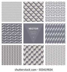 Set of 8 popular geometric patterns.