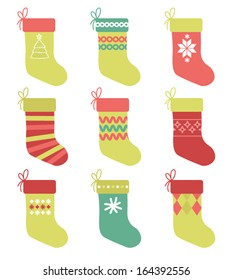 Set of 9 Christmas Stockings
