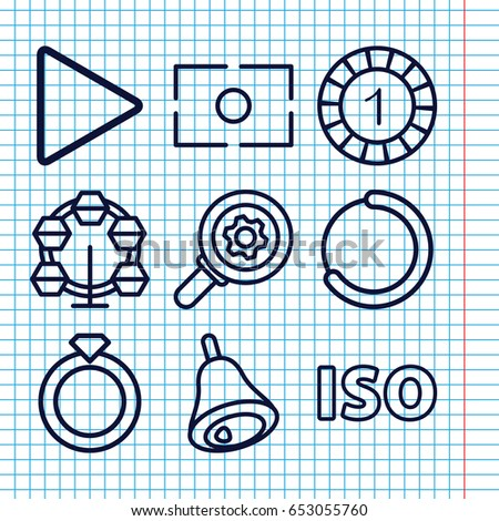 dba8bc629f21c Set 9 Circle Outline Icons Such Stock Vector (Royalty Free ...