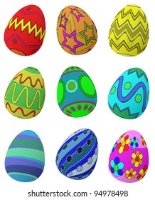 A set of 9 Easter Eggs.