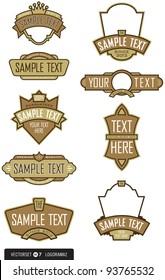 Set of 9 Label or Emblem Vectors