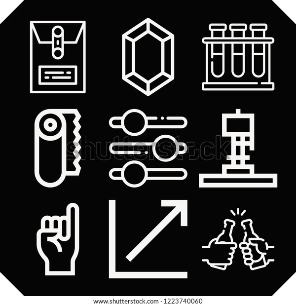 Set 9 Line Outline Icons Such Stock Vector (Royalty Free