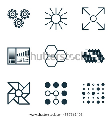 Set 9 Robotics Icons Includes Mechanism Stock Vector Royalty Free