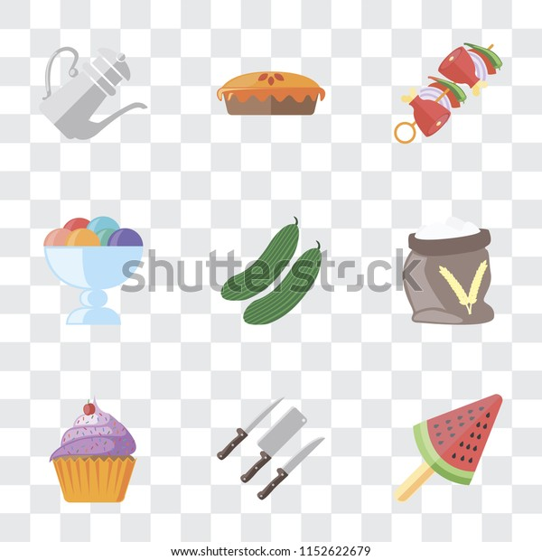 Set 9 Simple Transparency Icons Such Stock Vector Royalty