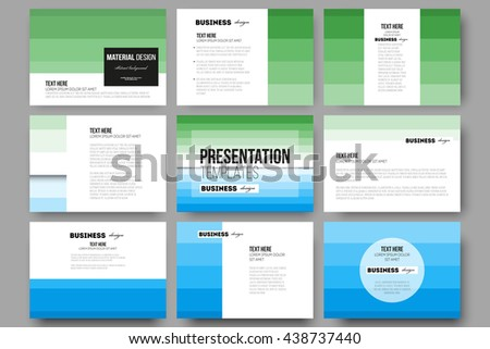 48007c27a8be Set of 9 vector templates for presentation slides. Abstract colorful  business background