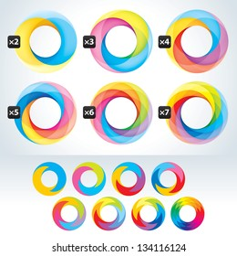 Set of abstact Infinite loop symbol template. Icons