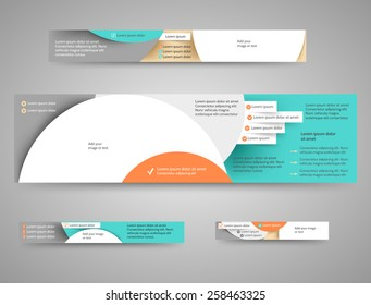 Set of abstract advertising banners for your blog or website