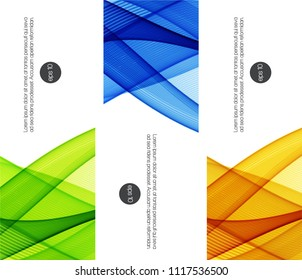 Set of abstract backgrounds with color waves