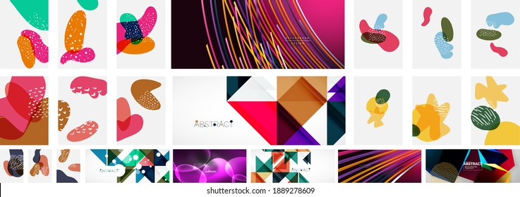 Set of abstract backgrounds. Vector illustration for covers, banners, flyers, social media
