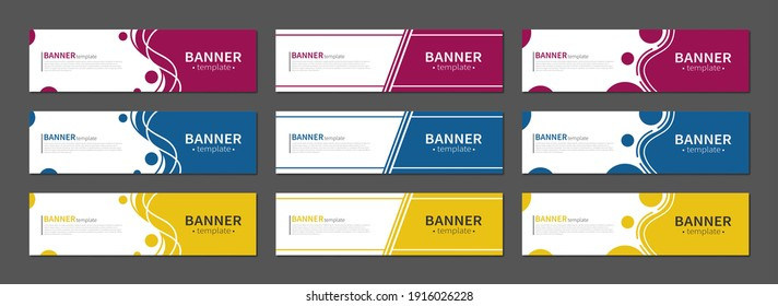 Set of abstract banners. Vector horizontal template banners. Template ready for use in web or print design.