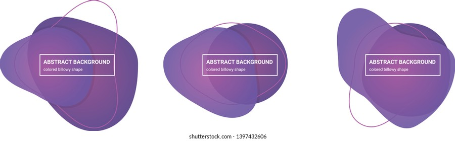 Set of abstract billowy shapes background teplates in Tapestry, Affair colors for banners, flyers, websites, brochures etc.