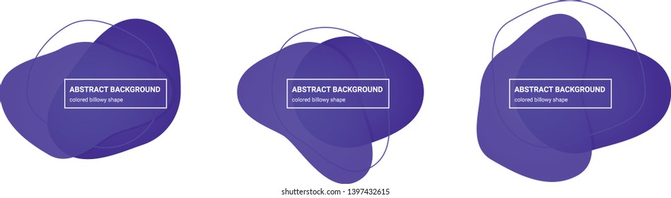 Set of abstract billowy shapes background teplates in Purple-Heart, Daisy-Bush colors for banners, flyers, websites, brochures etc.