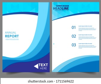 Set Abstract blue geometric modern annual report flyer Brochure leaflet, the presentation cover, magazine advertising. cover with an abstract background. vector template layout of A4 format