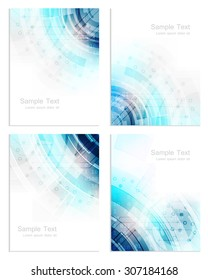 Set of abstract business flyer template, brochure or cover design/vector illustration