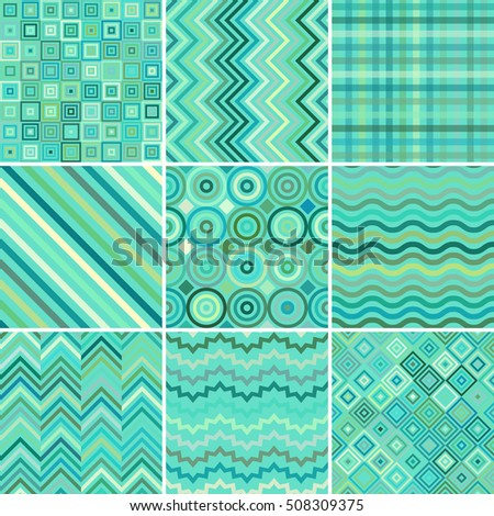 Set Abstract Colorful Background 9 Geometric Stock Vector