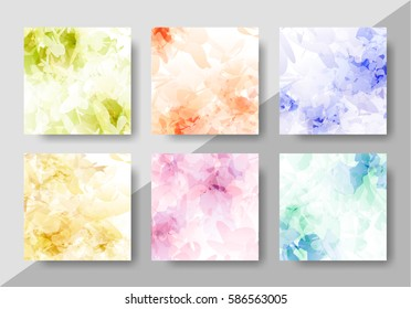 Set of abstract creative backgrounds. Backdrop design for posters, gift cards, brochures and flyers