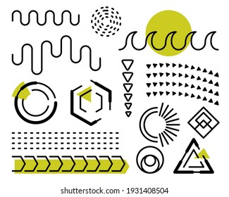 Set of Abstract elements design