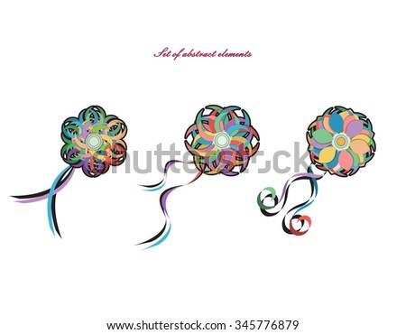 Set abstract elements vector can be stock vector royalty free can be used in different ways background m4hsunfo