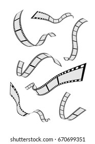 set of abstract film-strip reel