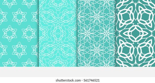 set of Abstract floral seamless pattern. geometry design. Vector. for invitation, fabric, textile, wedding, wallpaper