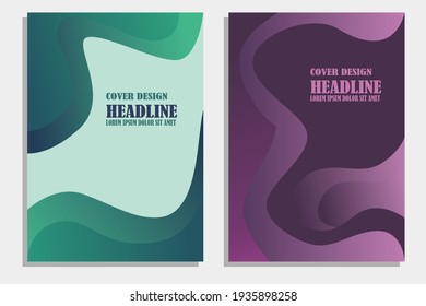 set abstract geometric modern annual report flayer brochure leaflet, the presentation cover, magazine advertising cover with  an abstract backkground. vektor template layout of A4 format format