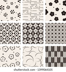 Set of Abstract geometric pattern with lines