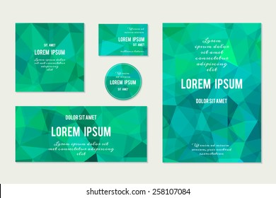 Set of Abstract Geometric Polygonal Backgrounds. Vector Illustration.