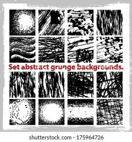 Set abstract grunge backgrounds. Vector illustration.