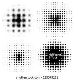 Set of Abstract Halftone Backgrounds. Vector illustration