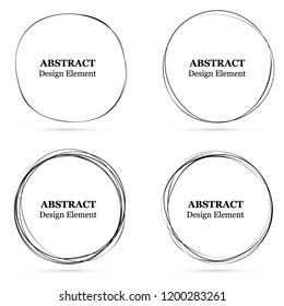 Set of abstract hand drawn circles for your design. 