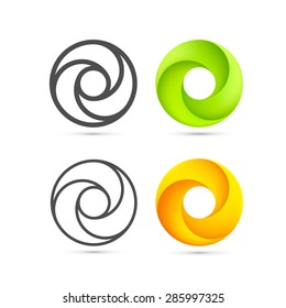 Set of abstract Infinite loop template, Infinite loop icon, Logo spiral set, Vector Illustration