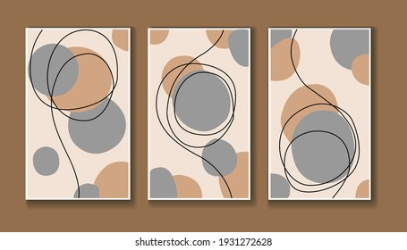 Set of Abstract Line Asthetic Contemporary Poster for Wall Decor