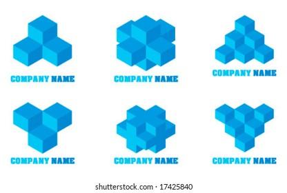 Set of abstract logos - vector illustration
