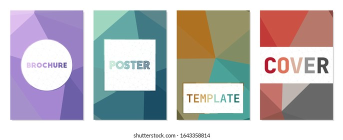 Set of abstract modern cover. Can be used as cover, banner, flyer, poster, business card, brochure. Charming geometric background collection. Astonishing vector illustration.