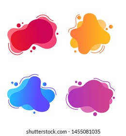Set of abstract Modern graphic elements with dynamical colored forms. Template for the design of a logo, Vector Illustration